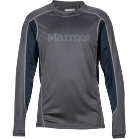 Marmot Windridge with Graphic Longsleeve Shirt Jongens, slate grey/black